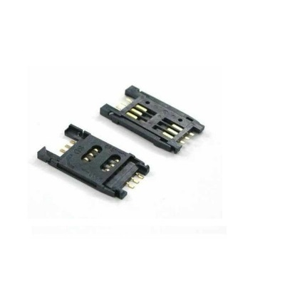 6Pin-Plastic-Sim-Holder-Flip-Type-GSM-SIM-Tray-Positron