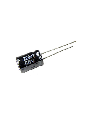 220uf-50V-Electrolytic-Capacitor-SemiConductor-Components-Positron